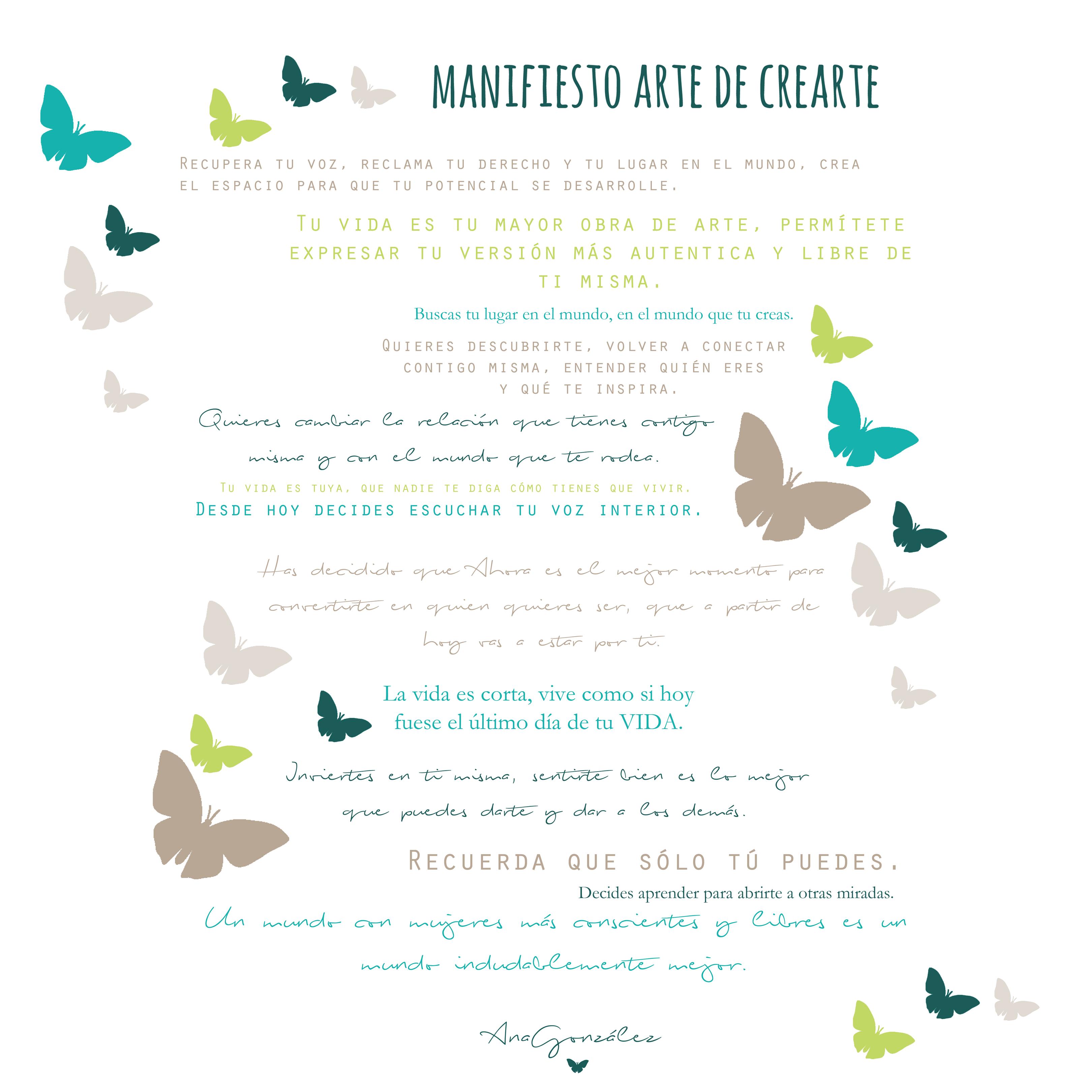MANIFIESTO ARTE DE CREARTE